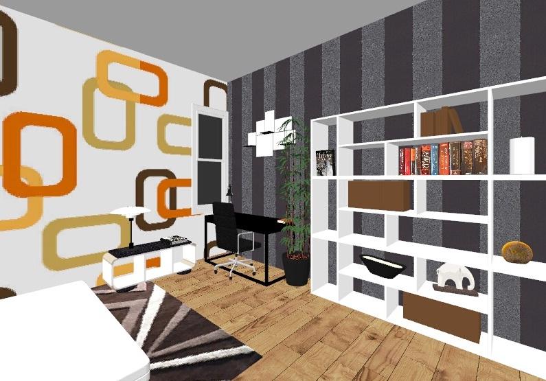 dekorasi interior kamar semester8